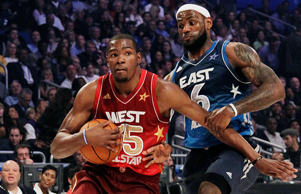 James and Durant top the All Star game ballot